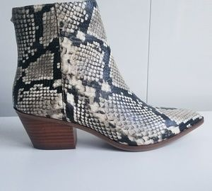 Aldo women's leather, new, snakeskin booties